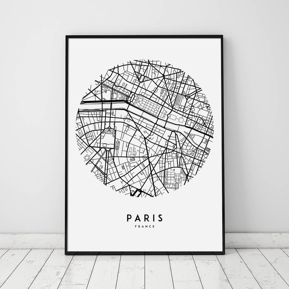 Set of 3 Prints New York London Paris Art Pictures Cities Wall Art A4 A3 A5