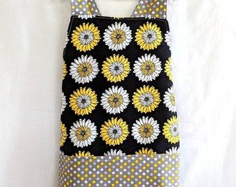 Preschool apron, sunflowers