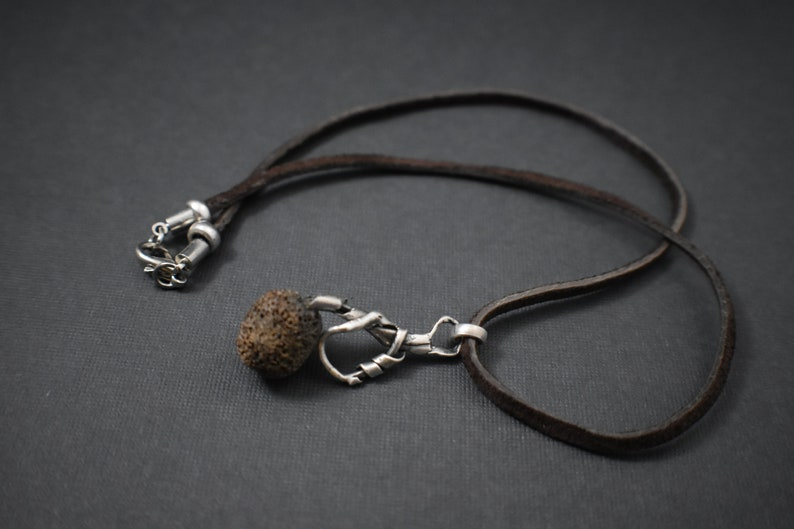 Necklace-Brown/Silver pendant image 0