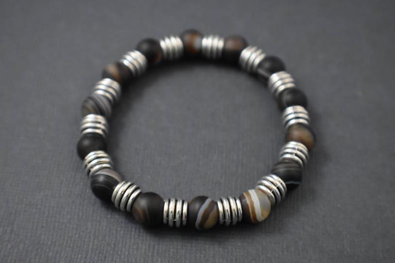 Bracelet  Tibetan brown agate beads bracelet image 0