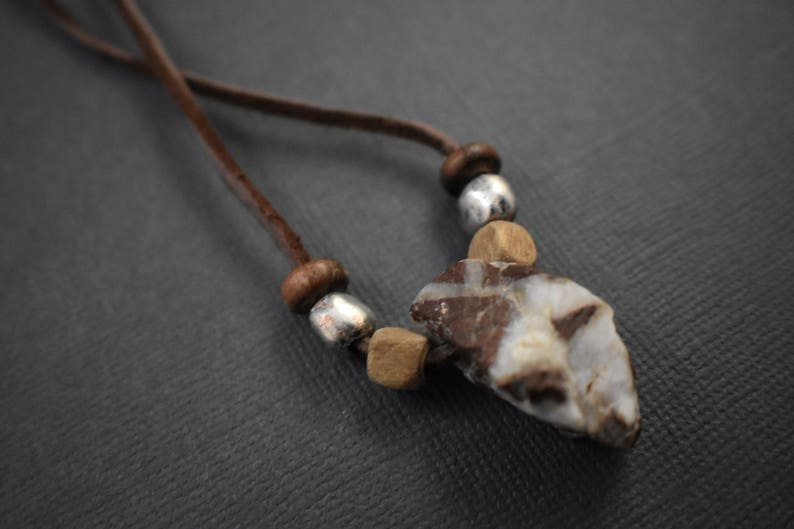 Necklace  Natural stone pendant image 0