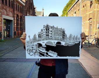 Brouwersgracht, Amsterdam - Silkscreen Print - Limited Edition