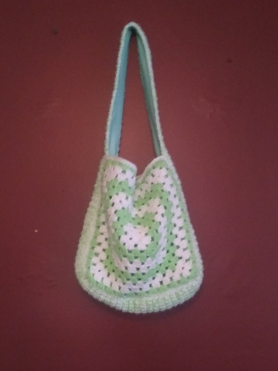 Vintage handmade granny square purse
