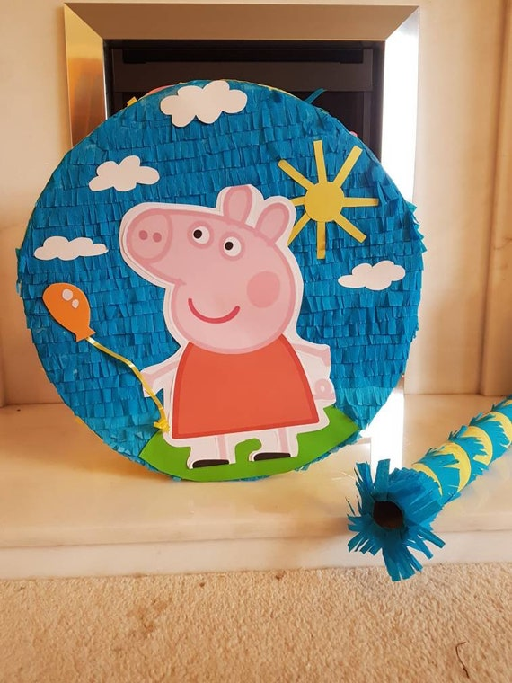 Peppa Pig Piñata  Peppa pig Party  Fun Piñata Game  Center piece  decoration  Piñata Peppa Pig  Peppa Pig favours