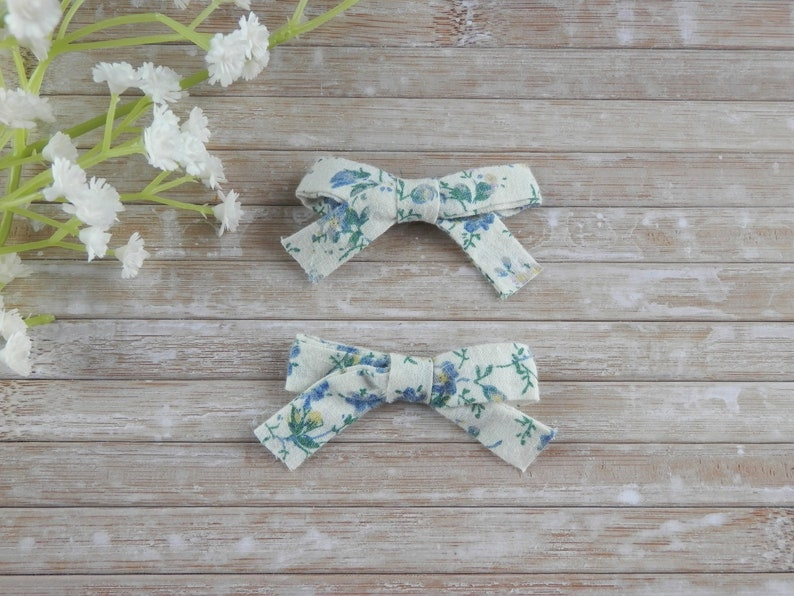 baby girl hair accessories cream bow clips small