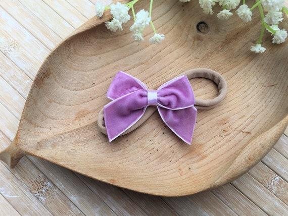 Purple Hair Bow Lavender Headband Light Purple Bow Lavender Hair Bow Lavender Hair Clip Lavender Hair Accessories Purple Hair CLip