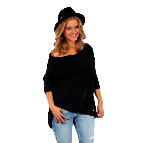 Wolfairy Womens Plus Size Tunic Kaftan Top Asymmetric Casual Blouse Jersey
