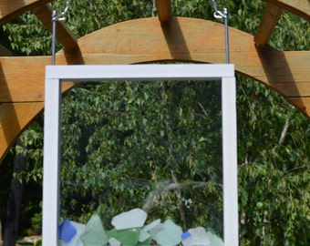 Beach Glass, Sea Glass and Marble Composite Starter Window Display
