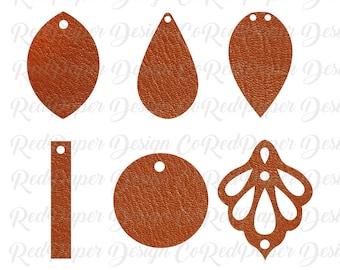 Earrings SVG, Leather Earrings Bundle, Teardrop Earring Template, Ornate Cut File, Leaf Leather Earrings, Joanna Gaines, Silhouette, Cricut