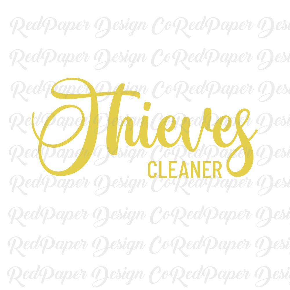 It is a photo of Sizzling Young Living Thieves Cleaner Label