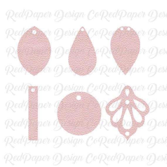 Ornate Earrings Silhouette Faux Leather Earrings SVG Png Joanna Gaines Cut File Christmas Angel earring svg Earrings Bundle Dxf Leaf