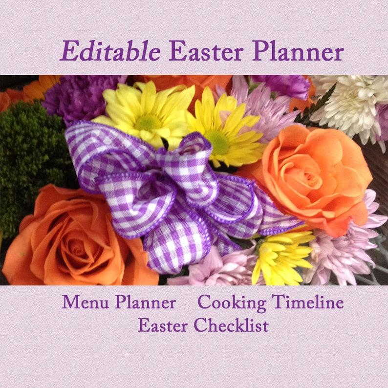 Editable Easter Planner Printable and Fillable image 0