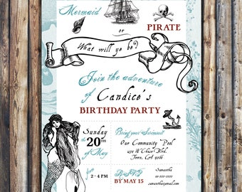 Ocean Birthday Invitation