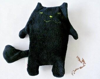 Black Cat - heating pad flax seed