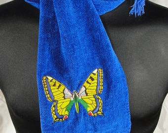 Hand Woven Chenille Butterfly Scarf