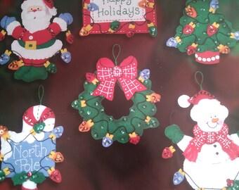Christmas ornaments - Snowman with Lights - Bucilla