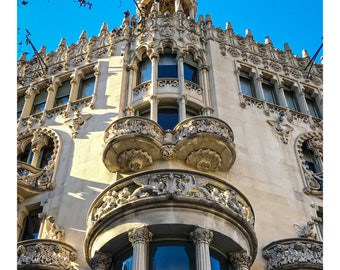 Casa Lleó Morera, Barcelona, Spain, Catalonia, Building, Mediterranean, Architechure, Cityscape, Photography, Digital Art, Instant Downloads