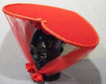 red velvet heart shaped hat