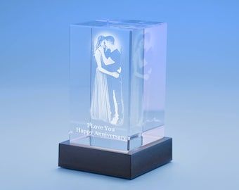 Create Your Own Crystal Laser Image Etched Timeless Keepsake Masterpiece 3D GIFT