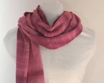 Silk scarf. Shibori artisan dyeing.