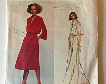 Vogue 1860 Ladies Dress Size 10 Renata Vintage 1970's