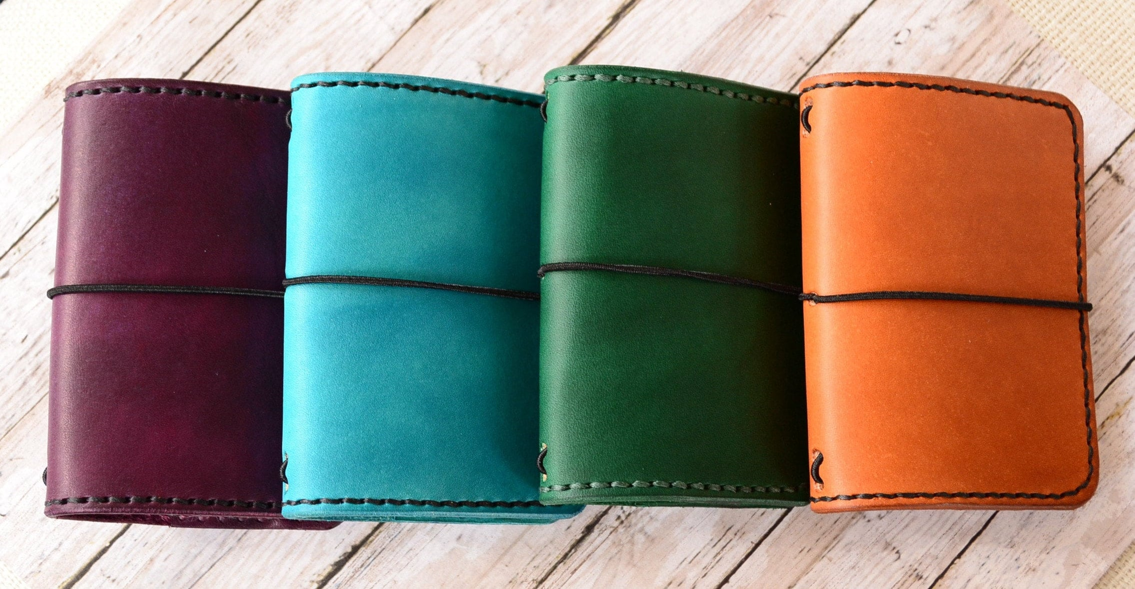 Custom Made Leather Travelers Notebook