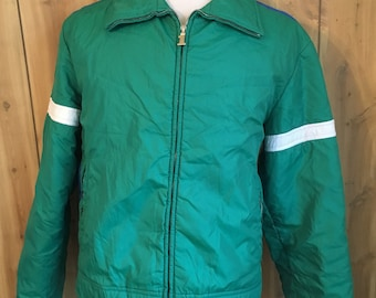 Vintage 1980s Women s Number  1 Sun Green 80s Ski Skiing Jacket - vintage  80s ski jacket - vintage sports jacket - winter jacket (Large) 257a2fa94