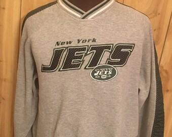 b84f1aeb4 Vintage New York Jets 1990s Lee Sport Gray Sweatshirt - new york football - vintage  football - football sweatshirt (XL)