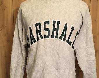 1959784c3729 Vintage Marshall University Thundering Herd 80s 1980s Jumper Pullover  Crewneck College Football Sweatshirt (XL)