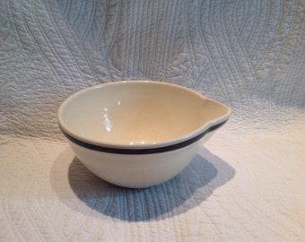 Vintage Hull White Mixing Bowl