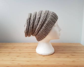 Chunky Grey Ribbed Hat