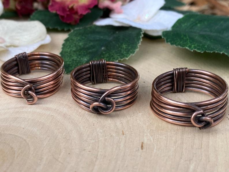 Men\u2019s Copper Wrap Ring Gift for him