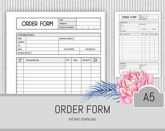 Order form a5 | Etsy on mayo clinic chemotherapy order forms, rosary order forms, check order forms,