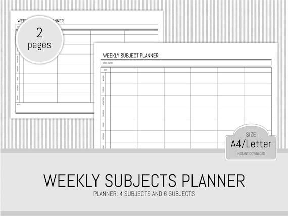 Student Planer wöchentliche Planer druckbare Universität | Etsy