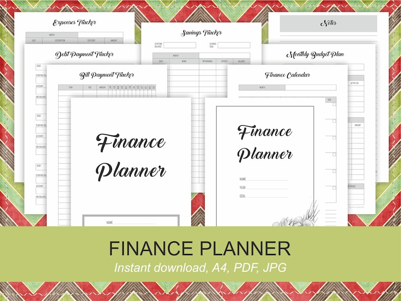image relating to Printable Budget Calendar known as Printable Fiscal Planner inserts Finance calendar Regular monthly Funds planner Financial savings Tracker Household Handle Planner Binder A4 planner address