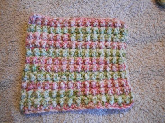 Crochet Dishcloth Wash Cloth Face Cloth Set Of 2 100 Cotton Etsy