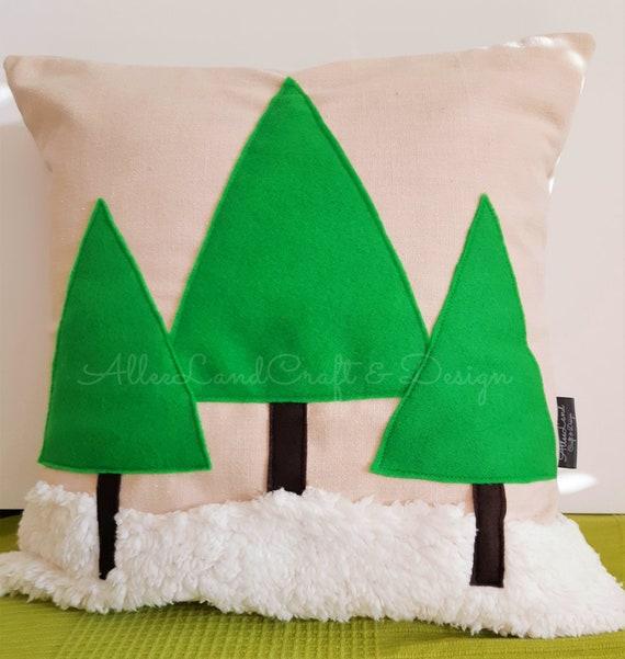 Christmas Deer Pillow  add Foam Cubes Fill  Christmas Cushion Pillowcase