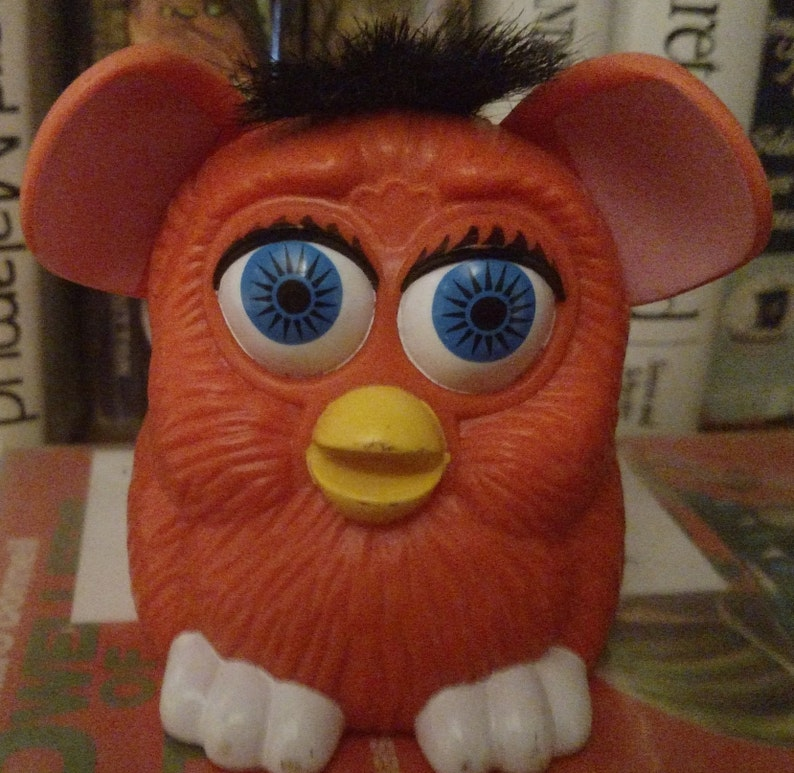 1998 Orange Furby Happy Meal Toy