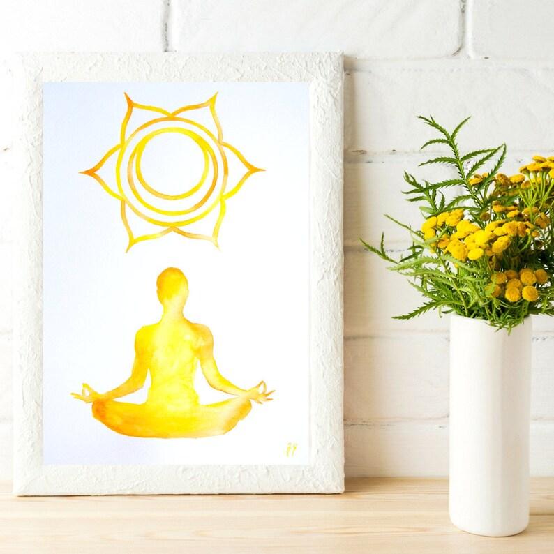 Decor ART PRINT Lotus Flower Symbol Yoga Tree Pose Fitness Wall Art Gift