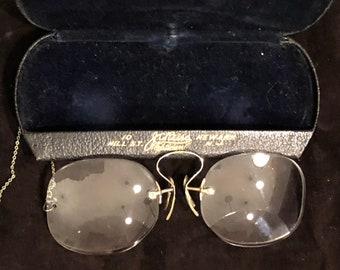 f3bfcfd062a Antique Pince Nez Glasses with clip