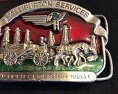 Vintage 1982 Halliburton Services Super Cementer 1920 Brass Belt Buckle