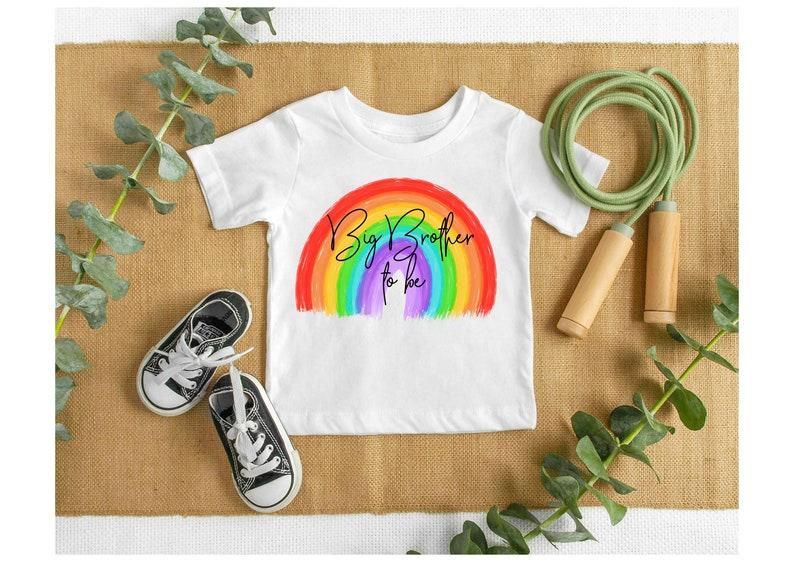 big brother to be rainbow tshirt