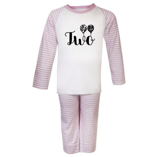 Birthday Pyjamas Second Kids T Shirt Name Personalised Age Tshirt 2nd
