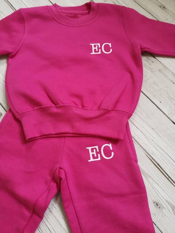 Personalised Childrens Kids Loungeset Tracksuit Navy Sweatshirt Jogger New Gift