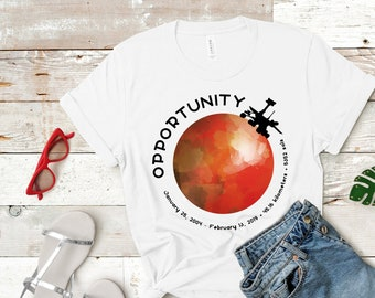 337fe01c7 Adult / Opportunity Rover Mars Mission Complete Commemorative RIP Oppy  Short-Sleeve Unisex T-Shirt
