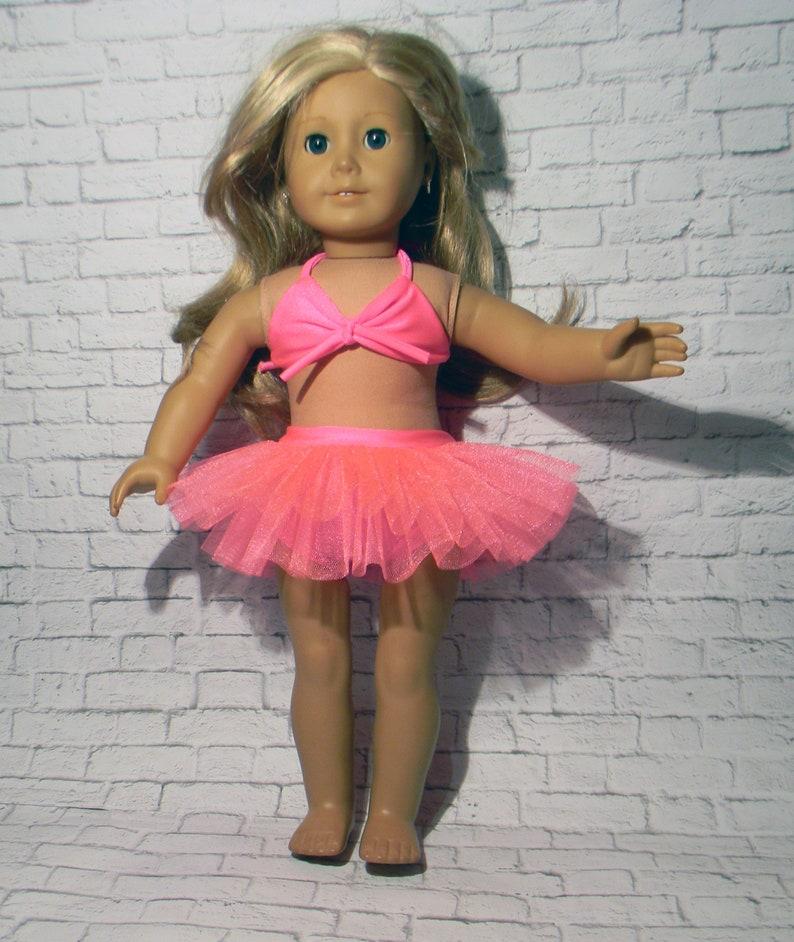 Skirt Summer Bikini Swimwear Swimsuits Bathing Suits for Girl 18 inch Doll Top