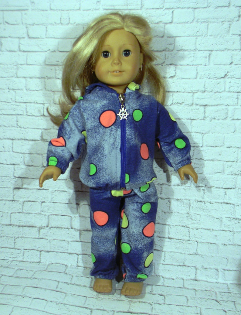 Hoodie and Trousers 18 inch handmade doll clothes designed to fit American girl doll and others-2 piece set ready to ship