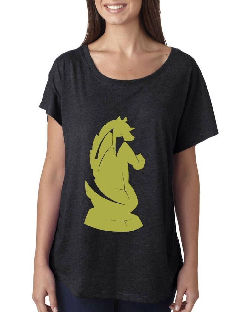 5cf01ac6 The Knight Chess Piece Tri-Blend T-Shirt | Etsy