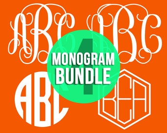 Vine Monogram Svg, Mongoram Svg, Monogram Font, Monogram Fonts, Vine Monogram Font, Interlocking Monogram, Circle Monogram, Svg Files