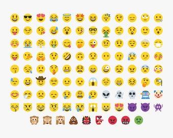 Emoji SVG, 105 Emoji, Emoji Bundle,Emoji Svg files, Emoji Clipart, Smiley Faces, File, Digital File, Printable Emoji, Emoji Cricut